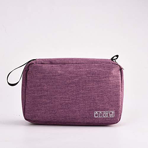 �Dchen Teenager, Kationisches Gewebe Hochwertiges Gitter Hochwertige Waschtasche Mit Haken für Damen und Herren Wasserabweisende Kosmetiktasche für die Reise, Purple ()