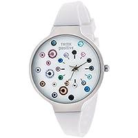 Orologio Donna, Think Positive, Modello SE W87 Acciaio, Cinturino Di Silicone, Orologio Analogico Fashion, Bianco Fantasia