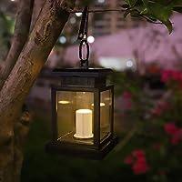 Illuminazione ovunque con il kit lanterna: 1. Appendere le lanterne solari sull'albero e trascorrere del tempo con l'amante in un'atmosfera rilassata e calda. 2. Questa lanterna solare può essere appesa al giardino per alcune feste, utilizzat...