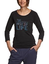 ESPRIT SPORTS Damen T-Shirt 102ES1K013, V-Ausschnitt
