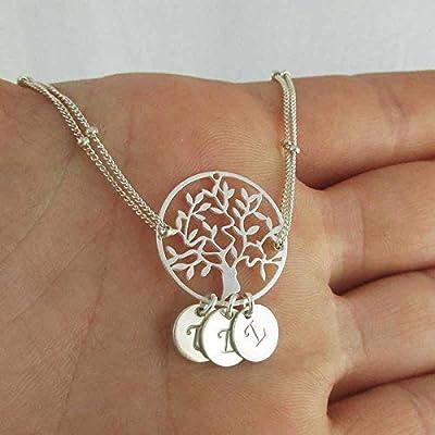 Bracelet arbre de vie argent 3 initiales