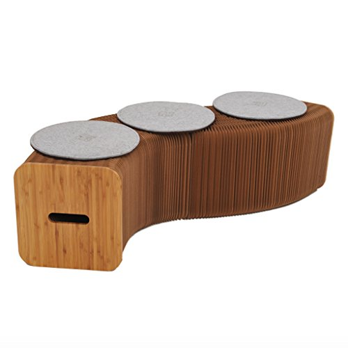 Home Möbel softeating modernes Design accordin Faltblätter Hocker Sofa Sessel Papier Entspannende Fuß stool-fashion Papier Design, ideal für Schule, Küche, Wohnen & Esszimmer (Moderne Sessel Und Hocker)