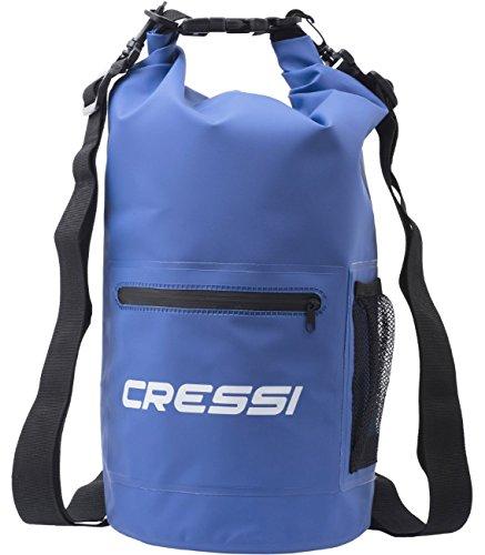 Cressi Dry Bag Sacca Stagna per Attività Sportive, Sub, Pesca, Nautica, Nuoto e Sport Acquatici, con Zip, 20 L, Blu