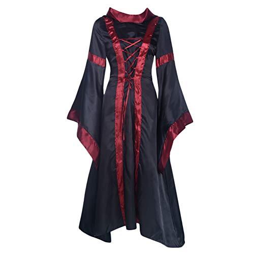 Halloween Cosplay Kostüm Hexe viktorianisches Kleid Frauen Hexe Renaissance Kleid Ball L Schwarz