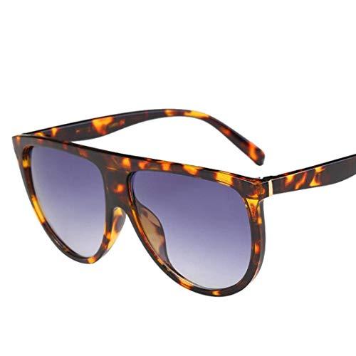 Fuxitoggo Abstand Männer Frauen Sonnenbrillen, Damenmode Unisex Vintage Schattierte Linse Dünne Brille Aviator Spiegel Objektiv Sonnenbrille Cool Alloy Goggles für Frauen Männer