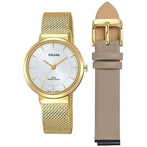 Pulsar Femme 30mm Bracelet & Boitier Acier Inoxydable Quartz Montre PH8402X1