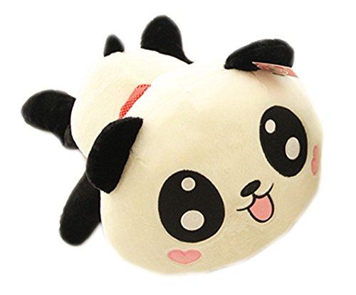 YunNasi Kawaii Peluche Panda Mignon Environs 35 cm Jouet Décoratif Doudou Bébé Cadeau d'Anniversaire (Sham Stoff)