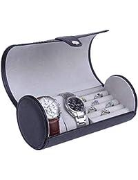 Estuche Cilíndrico para Caja para Relojes Caja Joyero Organizador De Joyas