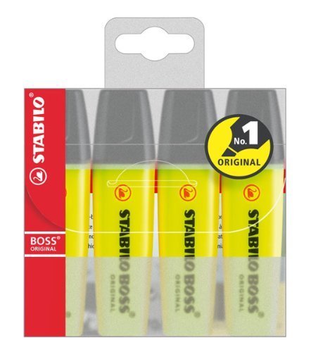 Textmarker BOSS 4ST gelb