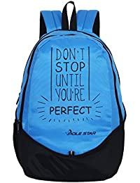 POLE STAR 30 Ltr Blue And Black Polyester Laptop Backpack