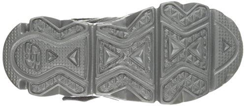 Skechers Datarox Hydrometer Synthétique Baskets Black Silver