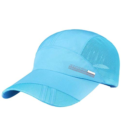 Kappe Herren Und Damen Adult Hut Mesh Quick Dry Zusammenklappbare Sun Hat Jungen Outdoor Sonnencreme Baseball Cap Basecap Baseball Cap Verstellbar Women (Color : Sky Blue, Size : One Size) Womens Sky Blue Cap