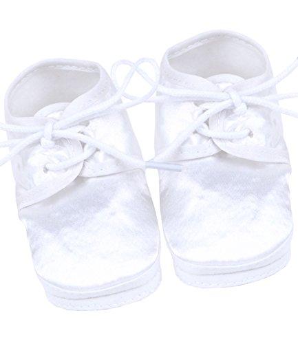 BabyPrem Baby Taufschuhe Babyschuhe Satin Taufe Kleidung