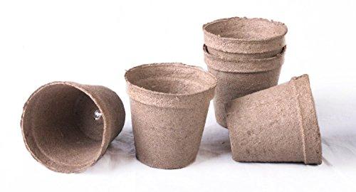 20 nouveaux rond Jiffy godets Taille 2,25 X 2,25 ~ Pots sont 5,7 cm Round sur le dessus et 5,7 cm de profondeur.