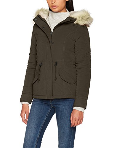 Only onlnew lucca short jacket otw, parka donna, verde (black olive black olive), 42 (taglia produttore: small)