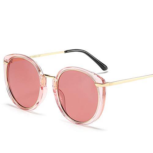 JIANG Sonnenbrille, personalisierter runder Rahmen-Metallpolarisator-Fahrspiegel, geeignet für die meisten Outdoor-Aktivitäten,C