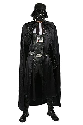 Xcoser Halloween Cosplay Vader Kostüm Erwachsene Herren Schwarz Deluxe Suit Kleidung Fancy Dress Outfit mit Gürtel - Deluxe Death Trooper Für Erwachsenen Kostüm