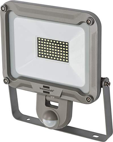 Brennenstuhl LED Außenstrahler JARO 5000P (für außen mit Bewegungsmelder, zur Wandmontage, LED-Fluter 50W aus Aluminium, IP44) silber