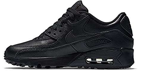 Nike Unisex-Kinder Air Max 90 Leather (GS) Laufschuhe, Schwarz (Black/Black), 35.5 EU (Nike Kinder Air Max)