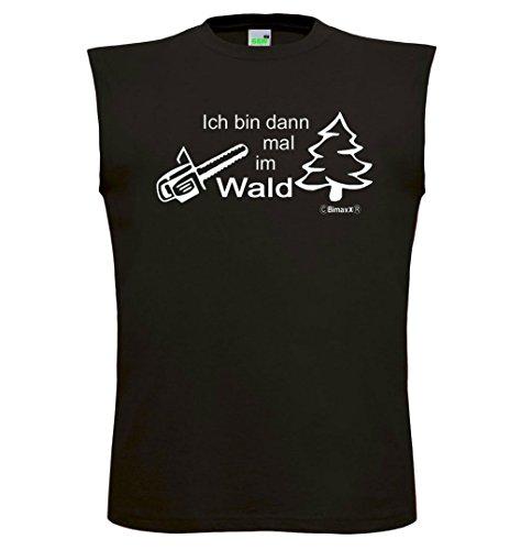 Ich bin dann mal im Wald | Muskelshirt | Tank Top | Athletic Shirt | Muskel Shirt Schwarz