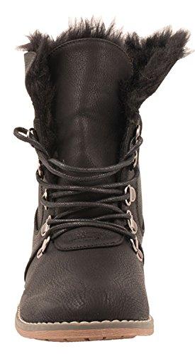 Elara Damen Biker Boots | Gemütliche Worker Stiefeletten | Warm Gefüttert | chunkyrayan Schwarz Berlin