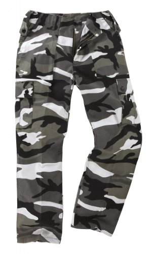 Youths / Kids Military Combat Cargo Trousers - Camo (13-14 Years, Urban)