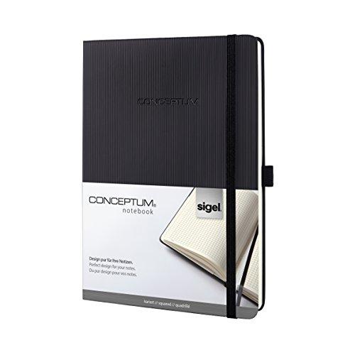 Preisvergleich Produktbild Sigel CO117 Notizbuch im Tablet-Format, kariert, Hardcover, schwarz, CONCEPTUM - weitere Modelle