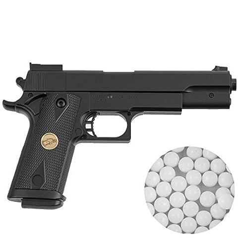 Pistolet airsoft P169 puissance de tir inférieur à 0,5 joules calibre 6 mm - munitions inclues