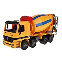 Sharplace Toy Construction Vehicle Truck Friction Cement Mixer Large Size - Yellow, as described