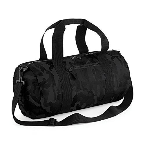 BagBase Borsone da Viaggio Mimetico Camo barrel bag 50x25x25cm 20L Midnight Camo