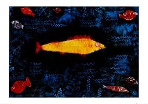 Posters: Paul Klee Poster Reproduction - Le Poisson Doré, 1925 (100 x 70 cm)