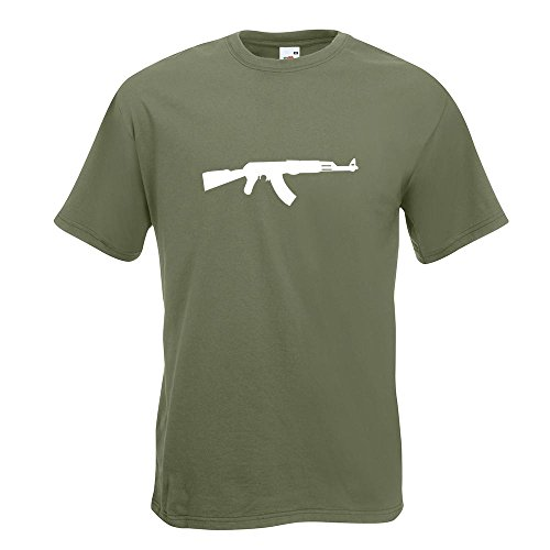KIWISTAR - AK 47 Kalaschnikow T-Shirt in 15 verschiedenen Farben - Herren  Funshirt bedruckt