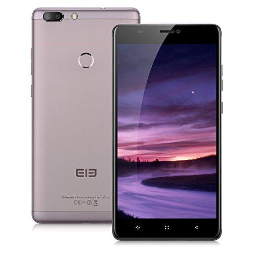 Elephone C1 Max LTE 4G Smartphone Android 7.0 ( 6.0'' IPS HD Schermo, Dual SIM Telefono Cellulari, 2GB RAM 32GB ROM, MTK6737 Quad Core 1.3GHz, 13MP+5MP Camera, Fingerprint, WiFi, GPS, OTG) - Oro di Mocha