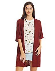 Forever 21 Womens Cotton Cardigan (00199269062_0019926906_ RUST_2/S)
