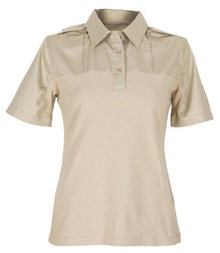 5.11DAMEN Klasse A Twill PDU Short Sleeve Shirt, damen, Silver Tan (Shirt Tan Twill)