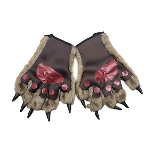 Amosfun Werwolf Wolf Handschuhe Wolf Kostüm Cosplay Zubehör für Kinder und Erwachsene 1 (Werwolf Hände Kostüm)