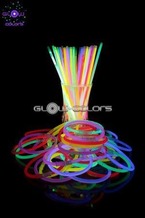 Uv Floor Universe - 100 Bracelets fluo lumineux couleurs