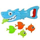 MIK funshopping Wasserspielzeug 5-TLG Set Shark Grabber