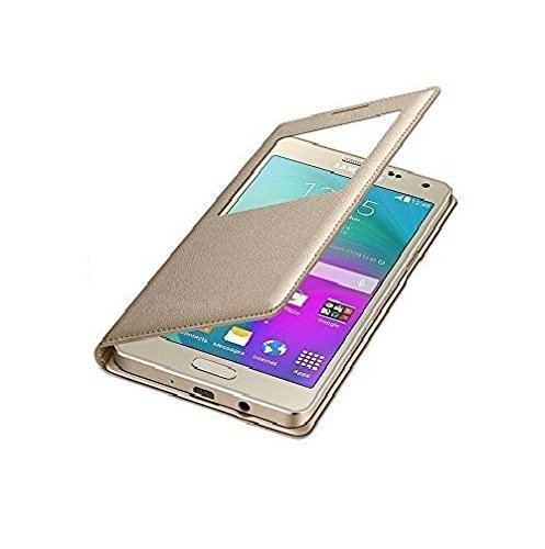 Premium Durable S View Cover Leather Flip cover Case for Samsung Galaxy J7 - 6 (New 2016 Edition) - GOLD  available at amazon for Rs.222