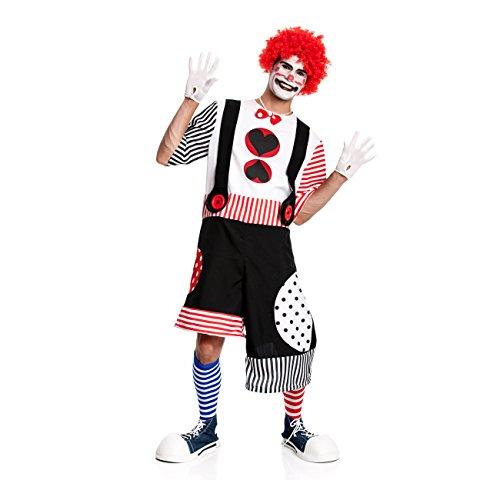 Kostümplanet® Clowns-Kostüm Herren Kostüm Fasching Größe - Herren Clown Kostüm