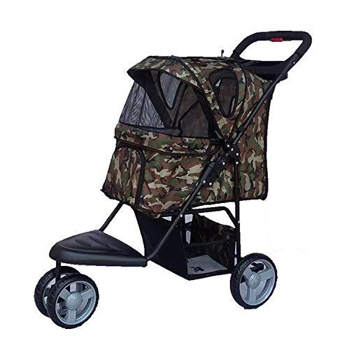 WZB - Wheelchair Oxford-Stoff-Haustier-Auto, Rüttelnder Faltender Haustier-Spaziergänger -