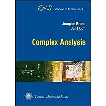Complex Analysis (EMS Textbooks in Mathematics) by Joaquim Bruna (2013-05-15)