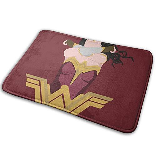 Greatbe Bienvenue Porte Tapis Wonder Woman Intérieur