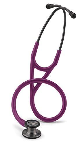 3M Littmann 6166 Cardiology IV Stethoskop, Smoke-Finish Bruststück, pflaumenfarbener Schlauch, Schlauchanschluss und Ohrbügel rauchfarben, 69cm -