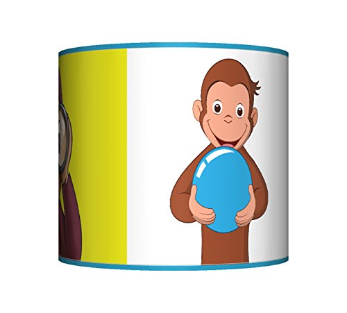 "Image of CURIOUS GEORGE LAMPSHADE - 10"" DRUM - BOYS / GIRLS BEDROOM LAMP SHADE"