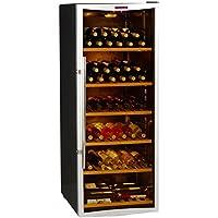 La Sommelière CVD131V Independiente Nevera de vino termoeléctrico Negro, Acero inoxidable 120bottle(s) D - Enfriador de vino (Independiente, Negro, Acero inoxidable, Negro, 5 estanterías, 1 puerta(s), Transparente)