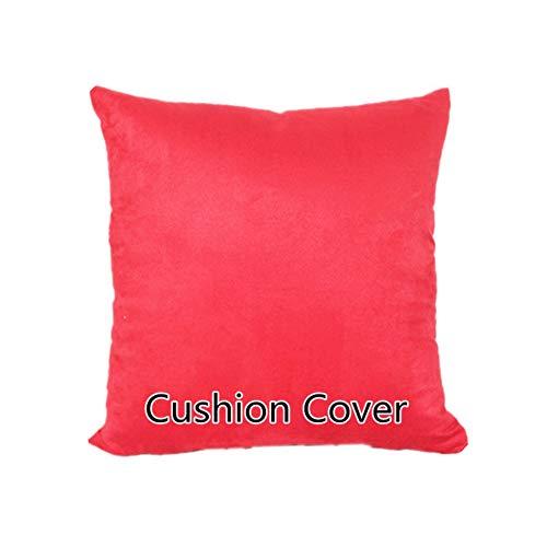ns Fashion Pillowcase Pure Color Dekokissen Stuhlkissen für Sofa Home Decor Geschenk, Rot, 55X55 Kopfkissenbezug ()