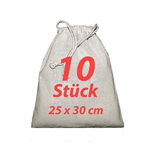 Sacchetto di stoffa zuzieh sacchetto con coulisse Natura 25x 30cm 10pezzi