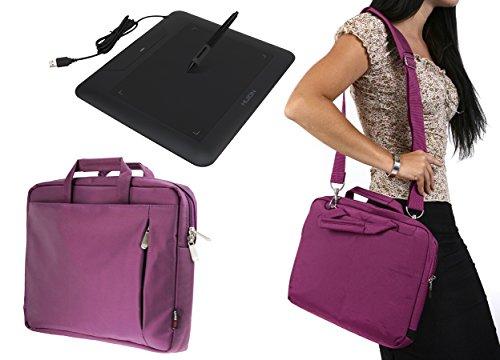 Navitech Lila Tragbarer Grafiktablett Tasche Schutz hülle für den Huion A4
