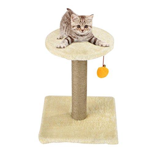 OUTAD Spielstation und Kratzbaum für Katzen, 30 x 30 x 36 cm
